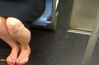 Red Haired MILF Sexy Legs Feet Kinda Smelly