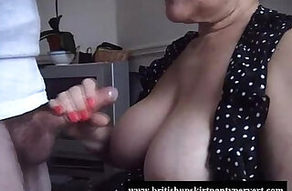 British granny lifts her skirt and lets fuck her tight panties