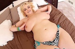 Blondes jugs cum covered