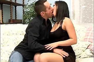 Asian ex girlfriend her asshole fucked on couch