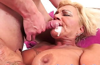 Tattooed gilf fucked with big juggs love