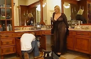 Horny bbw blonde wife gets pussy nailed by a young guy