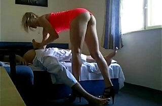 sexy blonde escort girl loves sucking and fucking in hotel hidden cam