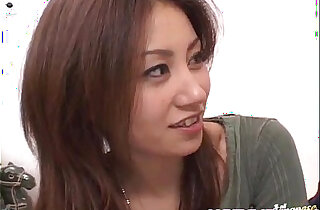 Nana Nanami gets two cocks in mouth and hairy cunt and cum after