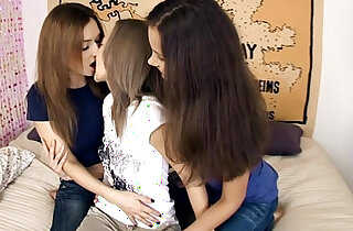 Excited Threeway by Sapphic Erotica lesbian sex scene with Lidia and M