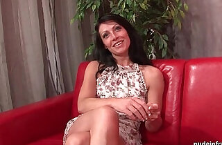 Sublime busty french milf anal fucked and cum to mouth for her casting
