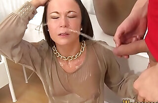 shower - Kinky whore gets facial