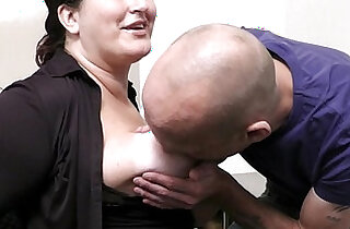 Office with her boss and busty secretary