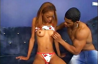 Sensual black sandy brown gets her ass fucked and defaced