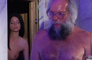 Teen Sensual Massage and Pussy with big dick grandpa super hot