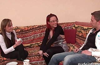 FFM Pretty amateur milf gets fucked hard deep anal penetration for her casting couch