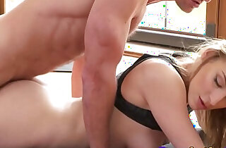 Yoga babe fucked in missionary pose