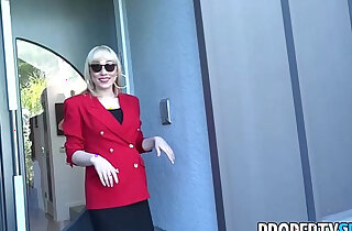 PropertySex Red blazer agent Lily Labeau fornicates in mansion